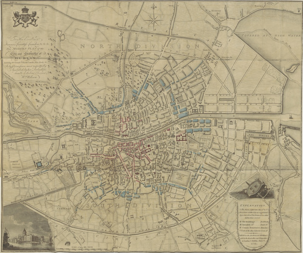 Dublin map 1798 - observations on mr archer's