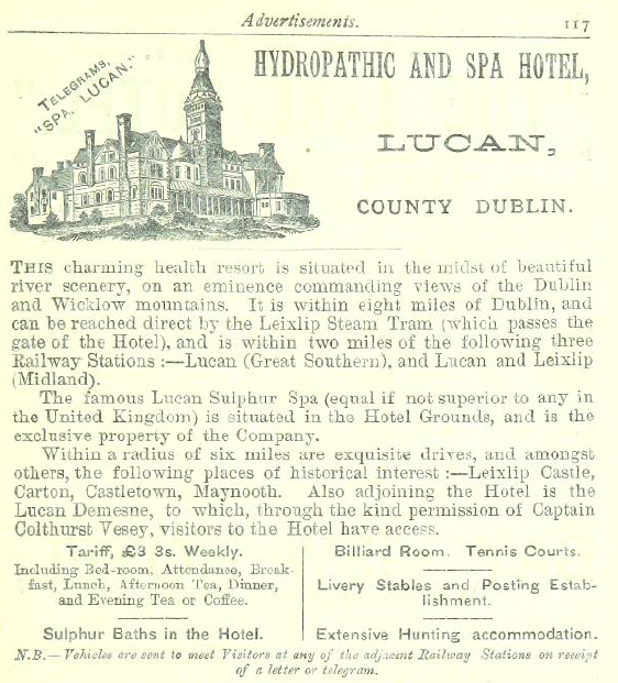 lucan spa hotel irish tourist development