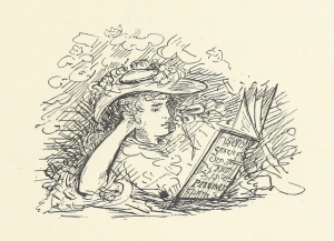 belle and the dragon - reading in hat