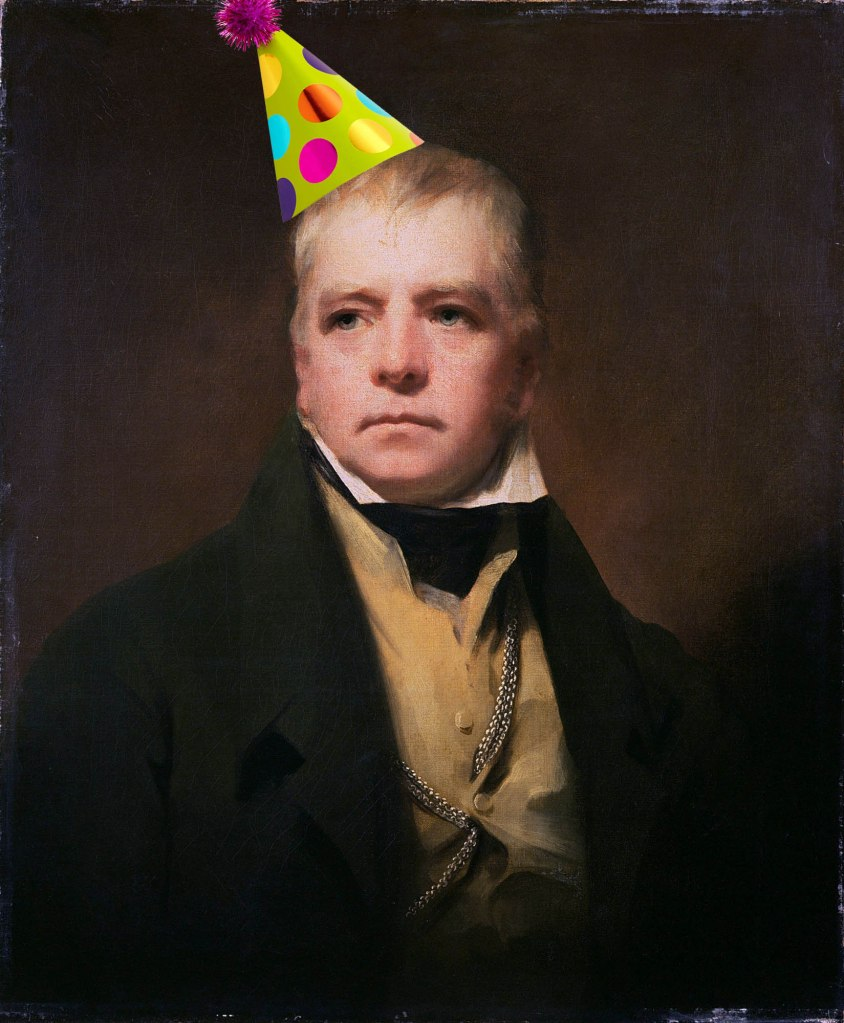 walter scott with party hat copy